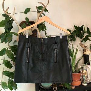 Allen B. By Allen Schwartz Faux Leather Skirt